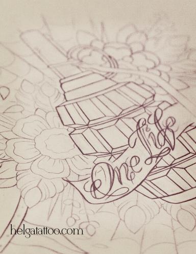 татуировка олд скул фото рисунок дизайн эскиз скетч old school neo traditional цветная тату  тату в традиционном стиле