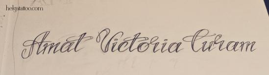 шрифт фраза рисунок дизайн татуировка на руке латынь