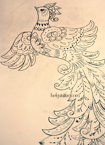 Жар птица | Хельга, делаю татуировки в ...: helgatattoo.com/2012/08/26/жар-птица-2