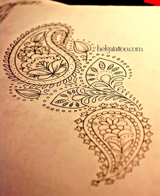 рисунок дизайн скетч орнамент узор абстрактная тату черно-белая орнаментальная татуировка   индийские мотивы индия менди мехенди