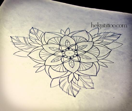 рисунок дизайн скетч old school neo traditional tattoo flower tatuaje flor цветная тату татуировка в традиционном стиле  олд скул орнаментальные цветы