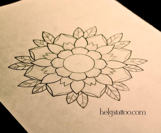 рисунок дизайн скетч декоративный цветок роза design sketch diseno flor flower old school neo traditional tattoo tatuaje тату в традиционном стиле традиция олд скул традишнл татуировка в Санкт-Петербурге