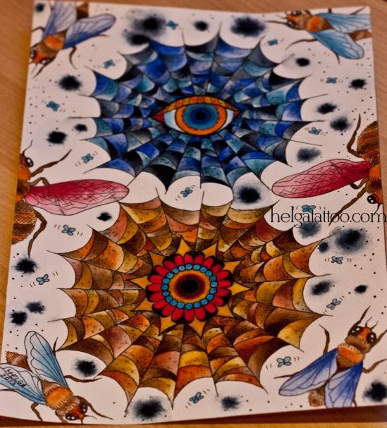 рисунок авторский дизайн скетч design sketch diseno  spiderweb татуировка в Санкт-Петербурге volar fly  old school neo traditional tattoo tatuaje тату в традиционном стиле традиция олд скул традишнл   цветная татуировка