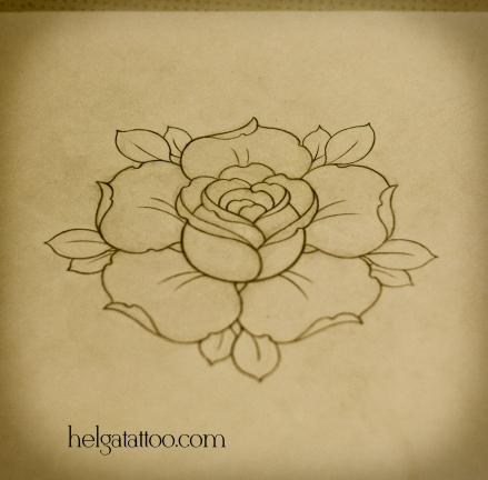 рисунок дизайн скетч rose rosa flower flor розочка цветок design sketch diseno old school neo traditional tattoo tatuaje тату в традиционном стиле традиция олд скул традишнл  татуировка в Санкт-Петербурге