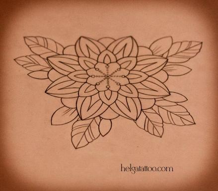 рисунок дизайн скетч design sketch diseno flower flor орнаментальный декоративный цветок татуировка в Санкт-Петербурге  old school neo traditional tattoo tatuaje тату в традиционном стиле традиция олд скул традишнл