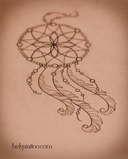 рисунок дизайн скетч design sketch diseno Dreamcatcher татуировка в Санкт-Петербурге  old school neo traditional tattoo tatuaje тату в традиционном стиле традиция олд скул традишнл
