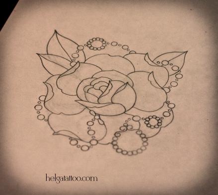 рисунок дизайн скетч design sketch diseno rose rosa flower flor old school neo traditional tattoo tatuaje тату в традиционном стиле традиция олд скул традишнл   цветная татуировка в Санкт-Петербурге