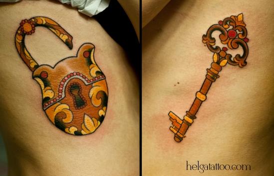 замок и ключ steam tattoo для двоих love lock key llave old antique beautiful old school neo traditional tattoo tatuaje тату в традиционном стиле традиция олд скул традишнл   цветная татуировка  в Санкт-Петербурге