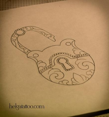 замочек старинный antique lock рисунок дизайн скетч design sketch diseno old school neo traditional tattoo tatuaje тату в традиционном стиле традиция олд скул традишнл   цветная татуировка  в Санкт-Петербурге парная