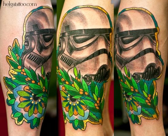 штурмовик old school neo traditional tattoo tatuaje звездные войны dark side тату в традиционном стиле традиция олд скул традишнл   цветная татуировка  в Санкт-Петербурге