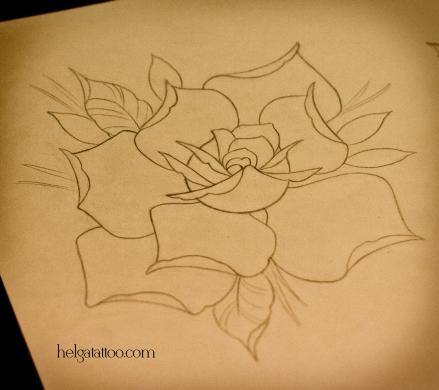 эскиз рисунок дизайн скетч design sketch diseno rosa роза flower flor old school neo traditional tattoo tatuaje тату в традиционном стиле традиция олд скул традишнл   цветная татуировка  в Санкт-Петербурге