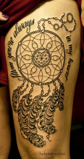 old school neo traditional tattoo tatuaje ловец снов перо надпись сердце heart тату в традиционном стиле традиция олд скул традишнл   цветная татуировка  в Санкт-Петербурге