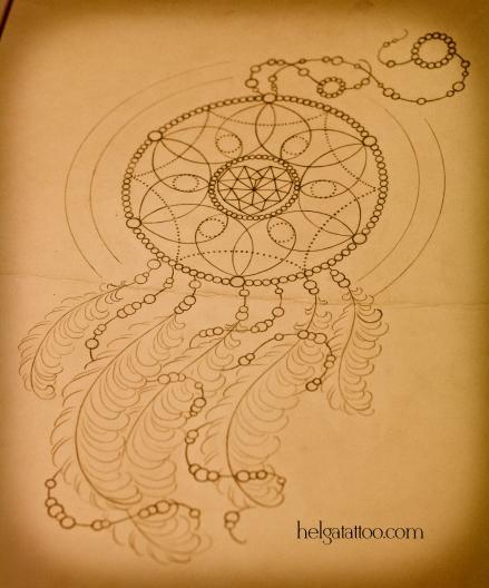 эскиз рисунок дизайн скетч Dreamcatcher перо перья design sketch diseno old school neo traditional tattoo tatuaje тату в традиционном стиле традиция олд скул традишнл   цветная татуировка  в Санкт-Петербурге