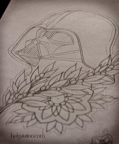 эскиз рисунок дизайн скетч design sketch diseno star wars black side звездные войны дарт вейдер old school neo traditional tattoo tatuaje тату в традиционном стиле традиция олд скул традишнл   цветная татуировка  в Санкт-Петербурге
