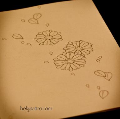 old school neo traditional tattoo little flower flor цветы цветочки tatuaje тату в традиционном стиле традиция олд скул традишнл   цветная татуировка  в Санкт-Петербурге