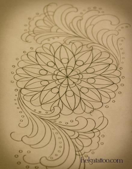 рисунок дизайн цветок flower скетч design sketch diseno old school neo traditional tattoo tatuaje тату в традиционном стиле традиция олд скул традишнл   цветная татуировка  в Санкт-Петербурге орнамент растительный цветочный менди мехенди индийский узор этнический рисунок