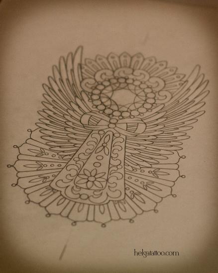 эскиз angel рисунок дизайн скетч design sketch diseno old school neo traditional tattoo tatuaje тату в традиционном стиле традиция олд скул традишнл   цветная татуировка  в Санкт-Петербурге