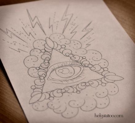 рисунок дизайн скетч глаз третий third eye symbol символ design sketch diseno old school neo traditional tattoo tatuaje тату в традиционном стиле традиция олд скул традишнл   цветная татуировка  в Санкт-Петербурге
