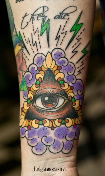 третий глаз third eye symbol символ Tercer Ojo old school neo traditional tattoo tatuaje тату в традиционном стиле традиция олд скул традишнл   цветная татуировка  в Санкт-Петербурге