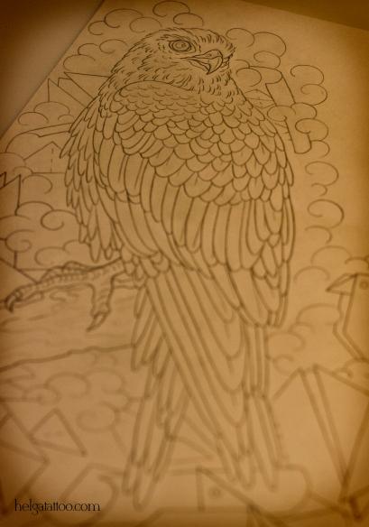 рисунок дизайн скетч falcon halcón design sketch diseno птица bird old school neo traditional tattoo tatuaje тату в традиционном стиле традиция олд скул традишнл   цветная татуировка  в Санкт-Петербурге