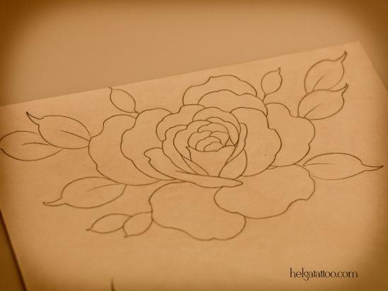 old school neo traditional tattoo tatuaje эскиз рисунок дизайн скетч design sketch diseno тату в традиционном стиле традиция олд скул традишнл  rosa flower flor роза розочка цветок цветная татуировка  в Санкт-Петербурге