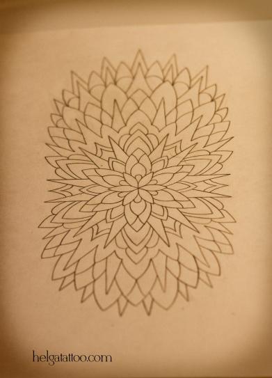 эскиз рисунок узор mandala дизайн скетч design sketch diseno old school neo traditional tattoo tatuaje тату в традиционном стиле традиция олд скул традишнл   цветная татуировка  в Санкт-Петербурге
