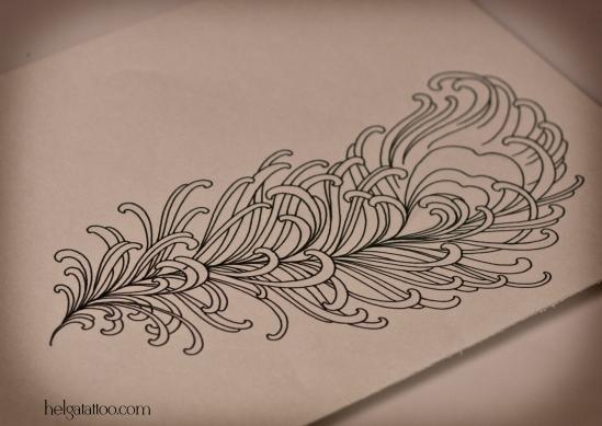 золотое перо пёрышко эскиз рисунок дизайн скетч design sketch diseno old school neo traditional tattoo tatuaje тату в традиционном стиле традиция олд скул традишнл   цветная татуировка  в Санкт-Петербурге