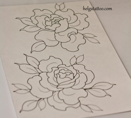 розы эскиз татуировки tattoo design rose traditional neotraditional old school