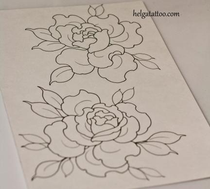 розы эскиз татуировки tattoo design rose traditional neotraditional old school